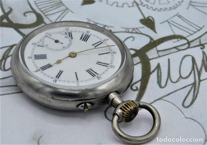 Relojes de bolsillo: LONGINES-RELOJ DE BOLSILLO REMONTOIRE-2 TAPAS-CIRCA 1894-FUNCIONANDO - Foto 8 - 155443866
