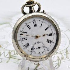 Pocket watches - LONGINES-RELOJ DE BOLSILLO REMONTOIRE-2 TAPAS-CIRCA 1894-FUNCIONANDO - 155443866