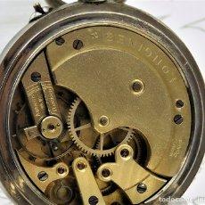 Relojes de bolsillo: LONGINES-RELOJ DE BOLSILLO REMONTOIRE-2 TAPAS-CIRCA 1894-FUNCIONANDO. Lote 155443866