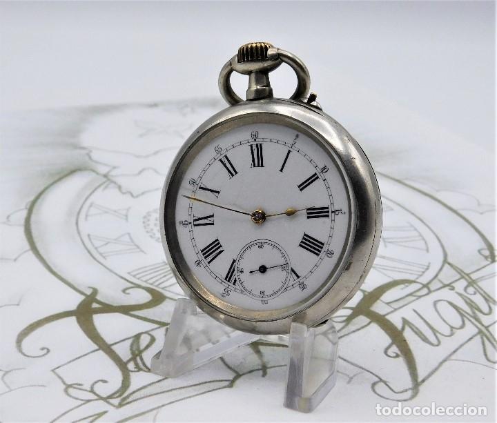 Relojes de bolsillo: LONGINES-RELOJ DE BOLSILLO REMONTOIRE-2 TAPAS-CIRCA 1894-FUNCIONANDO - Foto 5 - 155443866