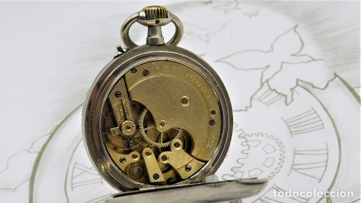 Relojes de bolsillo: LONGINES-RELOJ DE BOLSILLO REMONTOIRE-2 TAPAS-CIRCA 1894-FUNCIONANDO - Foto 11 - 155443866