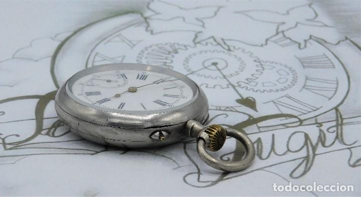 Relojes de bolsillo: LONGINES-RELOJ DE BOLSILLO REMONTOIRE-2 TAPAS-CIRCA 1894-FUNCIONANDO - Foto 3 - 155443866