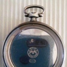 Relojes de bolsillo: ANTIGUA CAJA DE PLATA DE RELOJ DE BOLSILLO LONGINES - SIN RELOJ. Lote 155640742