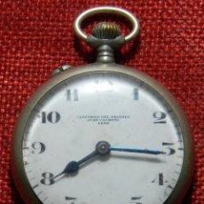 Relojes de bolsillo: RELOJ ESPAÑOL ELECTRICO DEL PAJARES - JUAN CACHERO - LENA - 49 MM DE DIAMETRO - PRINCIPIOS XX NAVAL. Lote 155822914