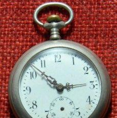Relojes de bolsillo: RELOJ LEPINE DE SRA. - ACERO - 35 MM DE DIAMETRO - AÑOS 40 . Lote 155824306