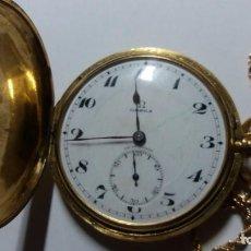 Relojes de bolsillo: RELOJ BOLSILLO OMEGA ORO. Lote 155876490