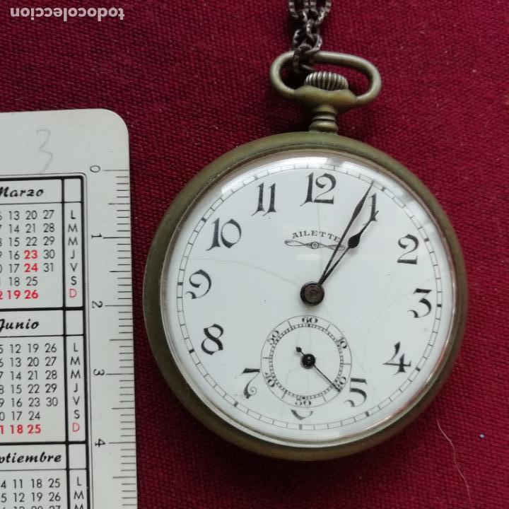 Relojes de bolsillo: Reloj de bolsillo Ailette. No funciona - Foto 2 - 156214186