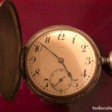 Relojes de bolsillo: RELOJ DE BOLSILLO DE PLATA DE 3 TAPAS. Lote 156915921