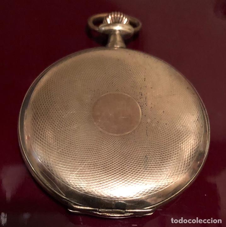 ANTIGUO RELOJ DE BOLSILLO, 3 TAPAS, CRONÓMETRO MODERNO QUILLET. PLAQUE ORO (Relojes - Bolsillo Carga Manual)