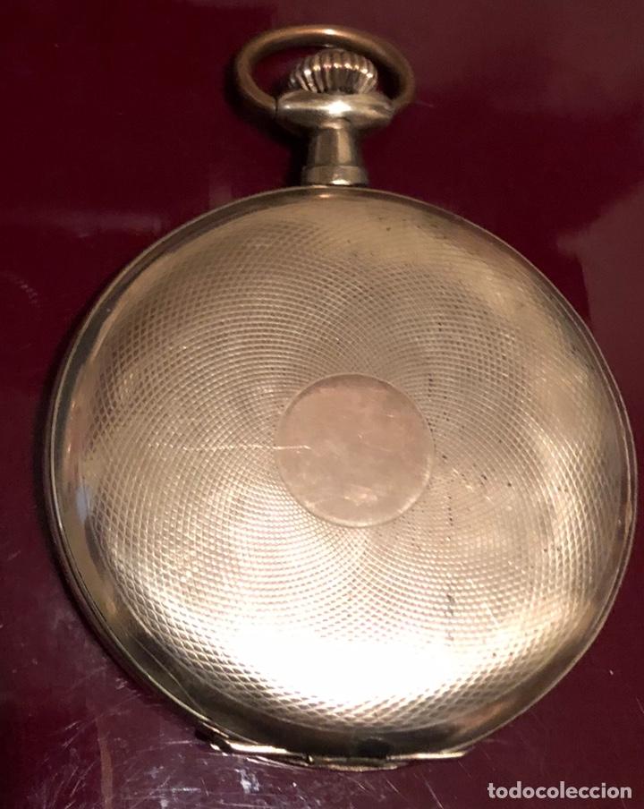 Relojes de bolsillo: Antiguo reloj de bolsillo, 3 tapas, cronómetro moderno Quillet. Plaque oro - Foto 2 - 156998250