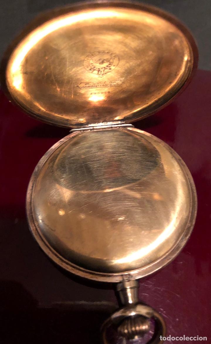 Relojes de bolsillo: Antiguo reloj de bolsillo, 3 tapas, cronómetro moderno Quillet. Plaque oro - Foto 5 - 156998250