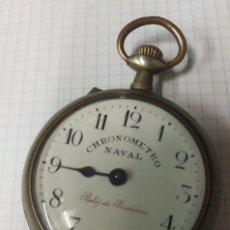 Relojes de bolsillo: ANTIGUO RELOJ BOLSILLO A CUERDA CHRONOMETRO NAVAL. Lote 157198685