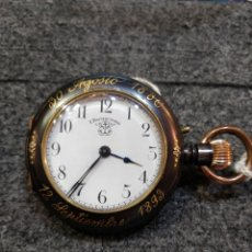 Relojes de bolsillo: DE COLECCION EXTRAORDINARIO RELOJ BOLSILLO F BACHSCHMID . FUNCIONANDO Y ESFERA PERFECTA. MUY CURIOSO. Lote 55115210