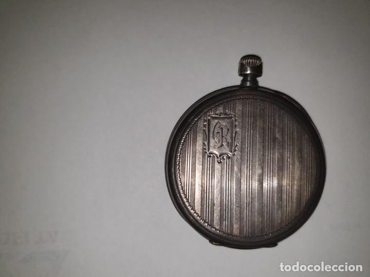 Relojes de bolsillo: RELOJ BOLSILLO PLATA JUAN B. CARBONELL VALENCIA - Foto 2 - 157677266
