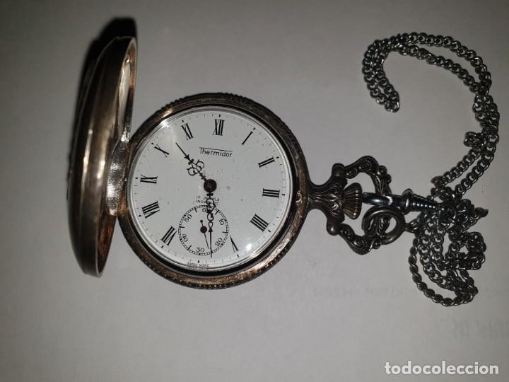 RELOJ BOLSILLO PLATA THERMIDOR (Relojes - Bolsillo Carga Manual)