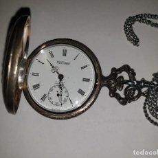 Relojes de bolsillo: RELOJ BOLSILLO PLATA THERMIDOR. Lote 157677866
