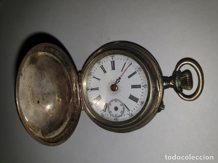 Relojes de bolsillo: RELOJ BOLSILLO PLATA - Foto 2 - 157678622