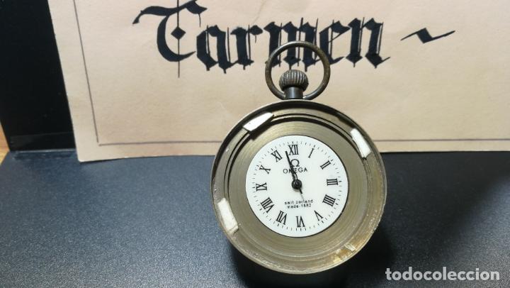 Relojes de bolsillo: Botito reloj para repara o piezas, la maguinaria funciona y se para - Foto 2 - 157734122