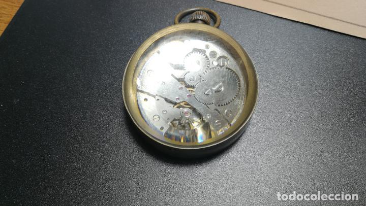 Relojes de bolsillo: Botito reloj para repara o piezas, la maguinaria funciona y se para - Foto 8 - 157734122