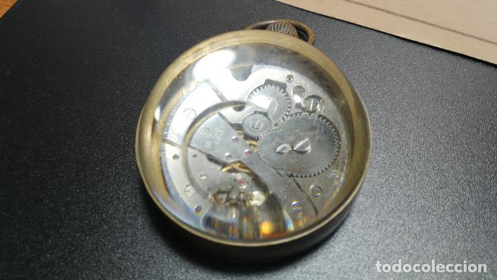 Relojes de bolsillo: Botito reloj para repara o piezas, la maguinaria funciona y se para - Foto 9 - 157734122