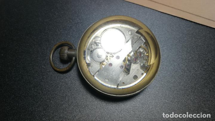 Relojes de bolsillo: Botito reloj para repara o piezas, la maguinaria funciona y se para - Foto 10 - 157734122