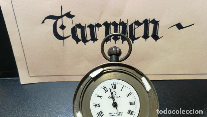 Relojes de bolsillo: Botito reloj para repara o piezas, la maguinaria funciona y se para - Foto 20 - 157734122