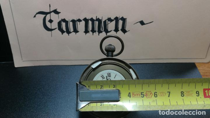 Relojes de bolsillo: Botito reloj para repara o piezas, la maguinaria funciona y se para - Foto 23 - 157734122