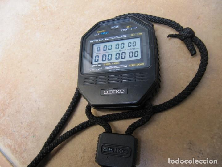 ANTIGUO RELOJ CRONOMETRO DIGITAL DE LA MARCA SEIKO (Relojes - Bolsillo Carga Manual)