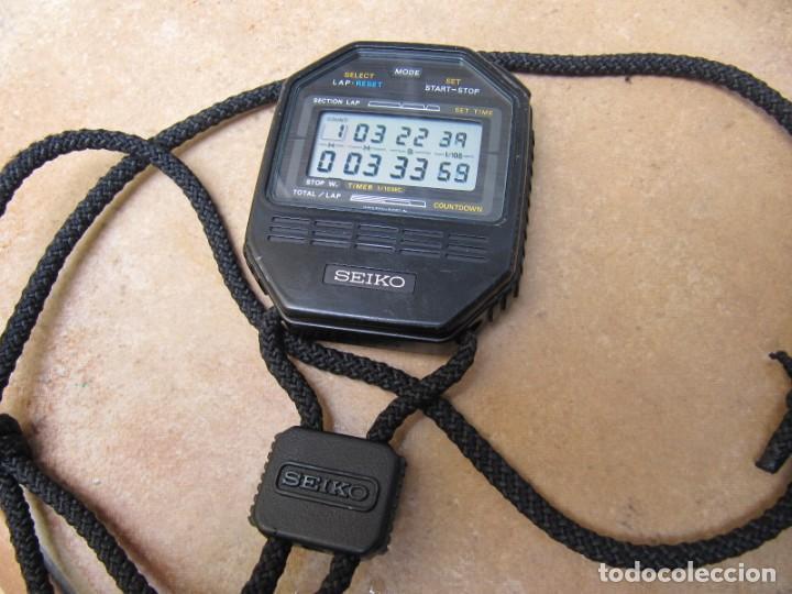 Relojes de bolsillo: ANTIGUO RELOJ CRONOMETRO DIGITAL DE LA MARCA SEIKO - Foto 2 - 157978066