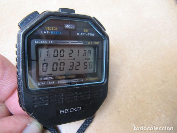 Relojes de bolsillo: ANTIGUO RELOJ CRONOMETRO DIGITAL DE LA MARCA SEIKO - Foto 4 - 157978066