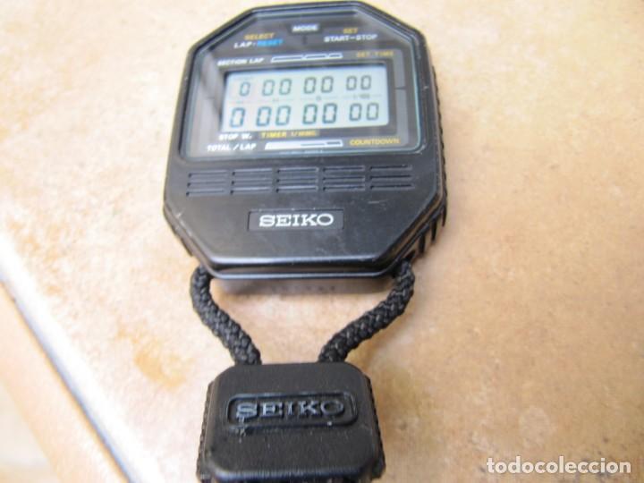Relojes de bolsillo: ANTIGUO RELOJ CRONOMETRO DIGITAL DE LA MARCA SEIKO - Foto 6 - 157978066