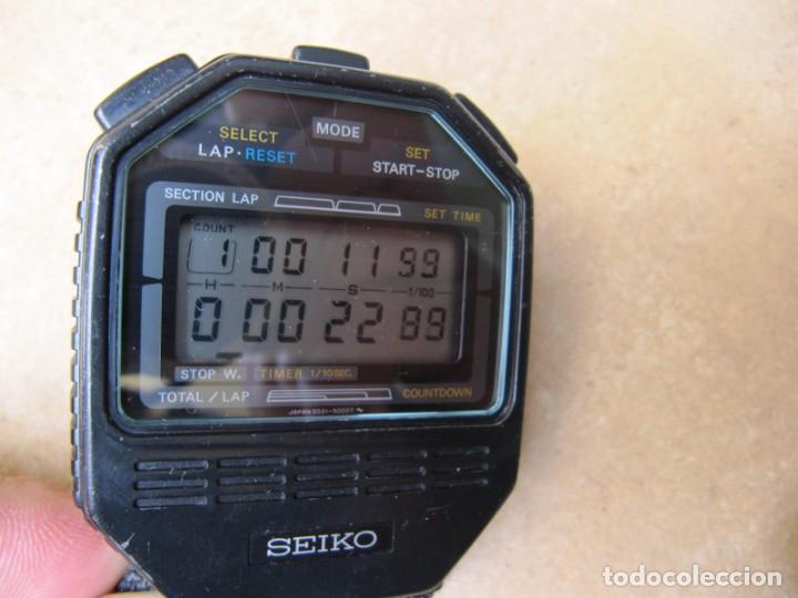 Relojes de bolsillo: ANTIGUO RELOJ CRONOMETRO DIGITAL DE LA MARCA SEIKO - Foto 7 - 157978066