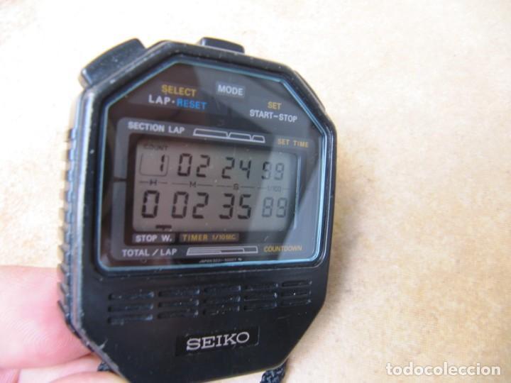 Relojes de bolsillo: ANTIGUO RELOJ CRONOMETRO DIGITAL DE LA MARCA SEIKO - Foto 10 - 157978066