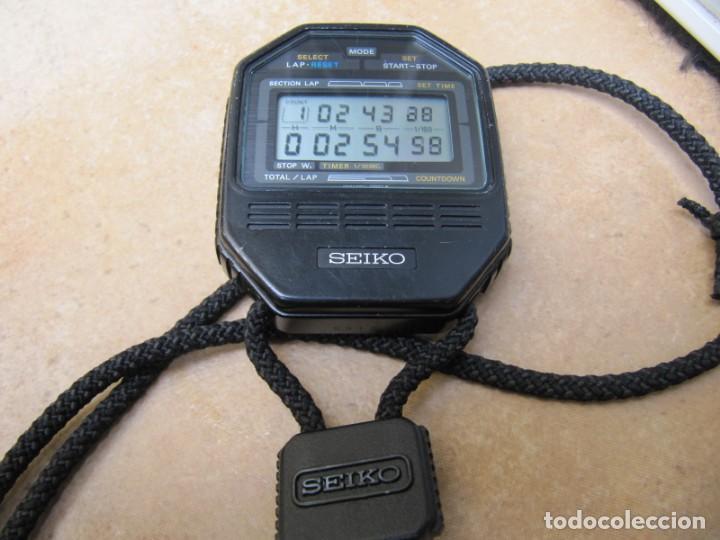 Relojes de bolsillo: ANTIGUO RELOJ CRONOMETRO DIGITAL DE LA MARCA SEIKO - Foto 11 - 157978066