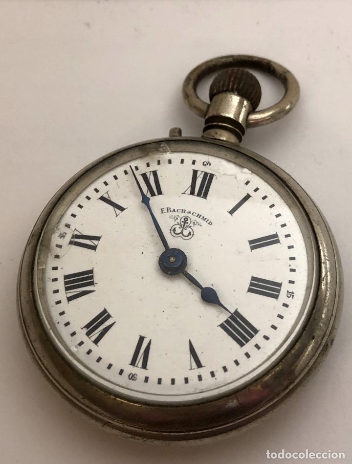 RELOJ DE BOLSILLO BACHSCHMID, TIPO ROSKOPF, 1891. (Relojes - Bolsillo Carga Manual)