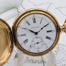 Relojes de bolsillo: WALTHAM-PRECIOSO RELOJ DE BOLSILLO-CIRCA 1903-3 TAPAS-FUNCIONANDO. Lote 126689859