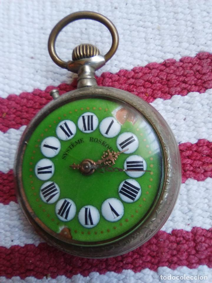 RELOJ DE BOLSILLO MARCA ROSKOPF CON UÑERO (Relojes - Bolsillo Carga Manual)