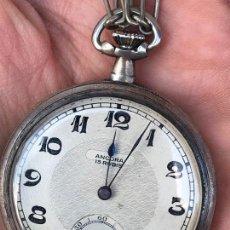 Relojes de bolsillo: RELOJ DE BOLSILLO A CUERDA ANCORA 15 RUBIS - FUNCIONANDO. Lote 158477674