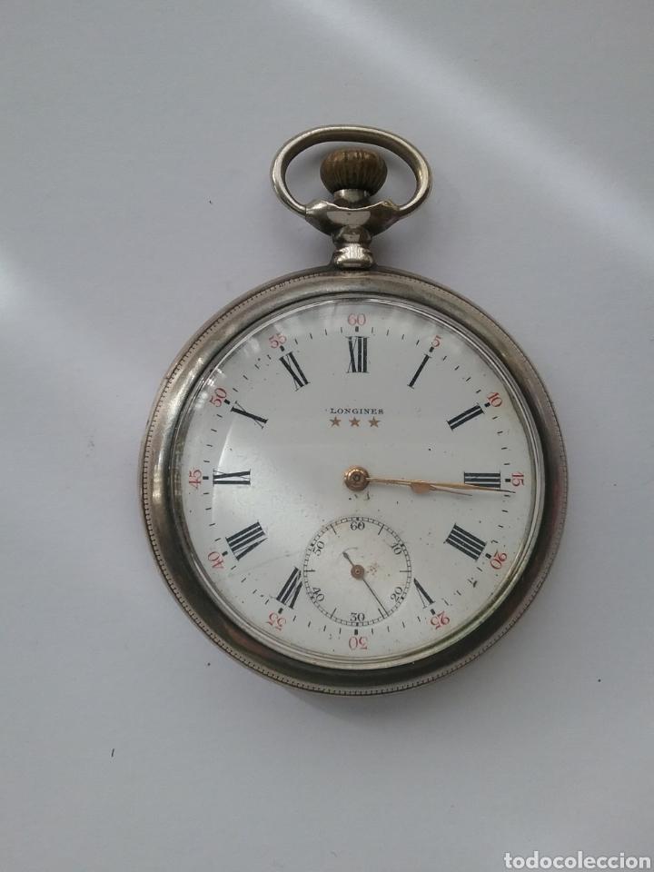 RELOJ BOLSILLO LONGINES EN PLATA N 3236711. FUNCIONA. (Relojes - Bolsillo Carga Manual)
