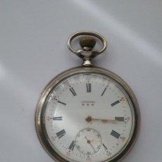 Relojes de bolsillo: RELOJ BOLSILLO LONGINES EN PLATA N 3236711. FUNCIONA.. Lote 158566534