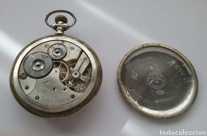 Relojes de bolsillo: Reloj bolsillo Longines en plata N 3236711. Funciona. - Foto 3 - 158566534
