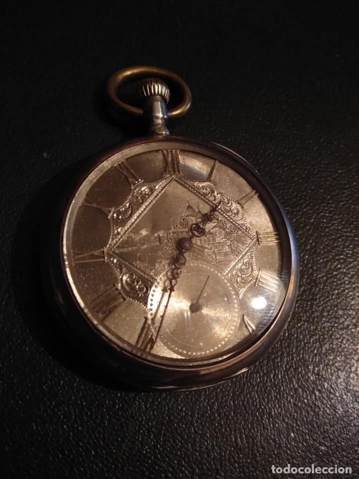 Relojes de bolsillo: Reloj de bolsillo marca SOLA de plata (Funcionando) - Foto 3 - 158698190