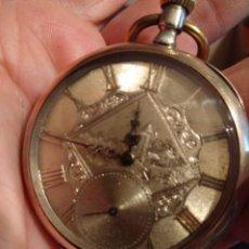 Relojes de bolsillo: RELOJ DE BOLSILLO MARCA SOLA DE PLATA (FUNCIONANDO). Lote 158698190