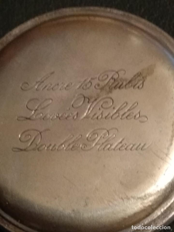 Relojes de bolsillo: Reloj de bolsillo marca SOLA de plata (Funcionando) - Foto 8 - 158698190