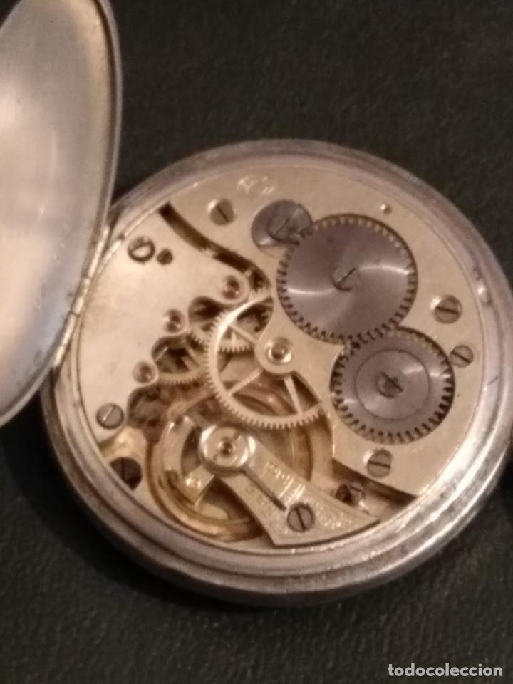 Relojes de bolsillo: Reloj de bolsillo marca SOLA de plata (Funcionando) - Foto 9 - 158698190