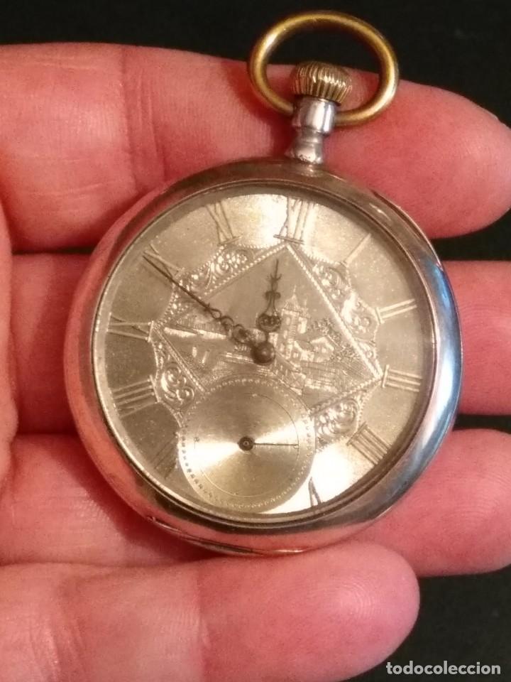 Relojes de bolsillo: Reloj de bolsillo marca SOLA de plata (Funcionando) - Foto 21 - 158698190
