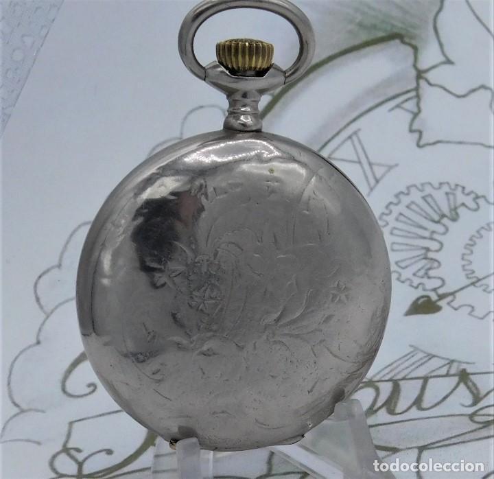 Relojes de bolsillo: HEBDOMAS-RELOJ DE BOLSILLO SABONETA 8 DÍAS-FUNCIONANDO - Foto 3 - 158723494