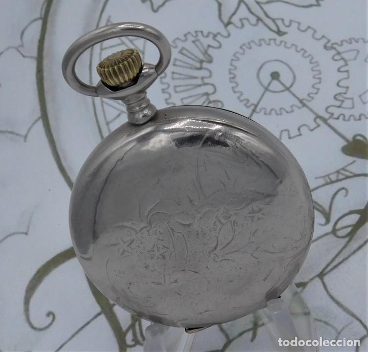 Relojes de bolsillo: HEBDOMAS-RELOJ DE BOLSILLO SABONETA 8 DÍAS-FUNCIONANDO - Foto 4 - 158723494