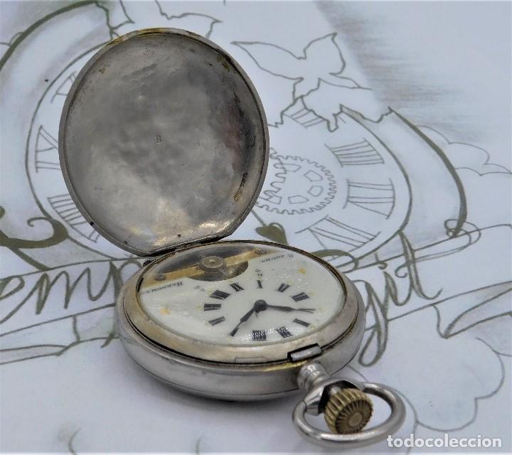 Relojes de bolsillo: HEBDOMAS-RELOJ DE BOLSILLO SABONETA 8 DÍAS-FUNCIONANDO - Foto 5 - 158723494