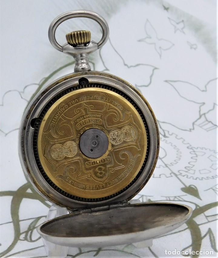 Relojes de bolsillo: HEBDOMAS-RELOJ DE BOLSILLO SABONETA 8 DÍAS-FUNCIONANDO - Foto 7 - 158723494